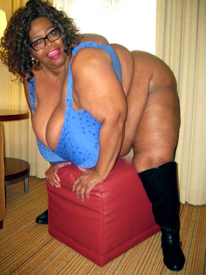 Super big black BBW with enormous..