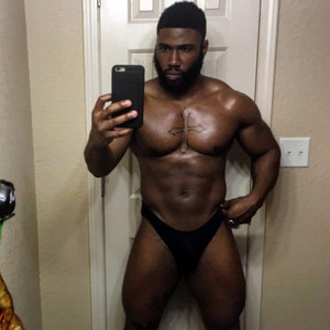 Tough black guys taking topless selfies