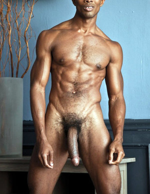 Black bodybuilder Sean naked and his..