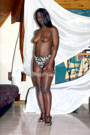 Sexy ebony babe with big tits..