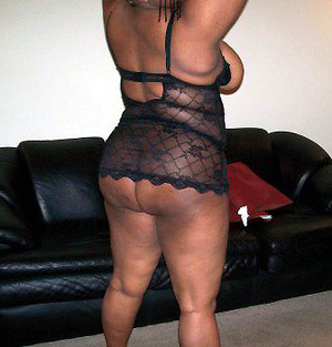 Sexy old ebony whore with big ass and..
