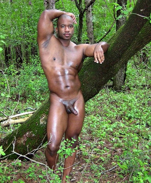 Mixed pics of naked black man with..